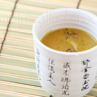 Coconut Pumpkin Cream Soup.