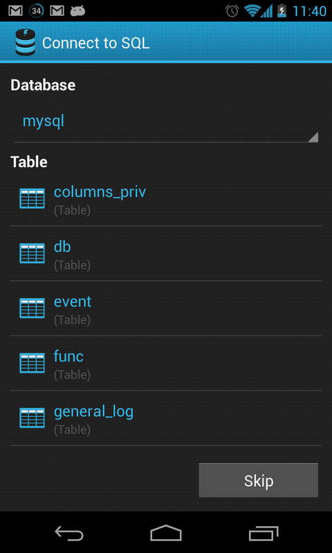 Connect2SQL - SQL Client - screenshot