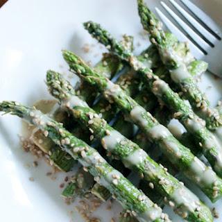 Sesame Drenched Asparagus [Vegan, Gluten-Free]