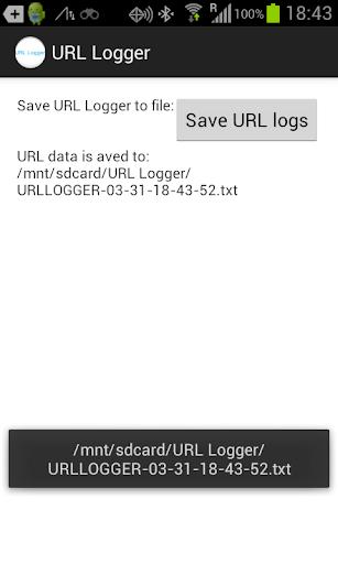 URL Logger - A Usability tool