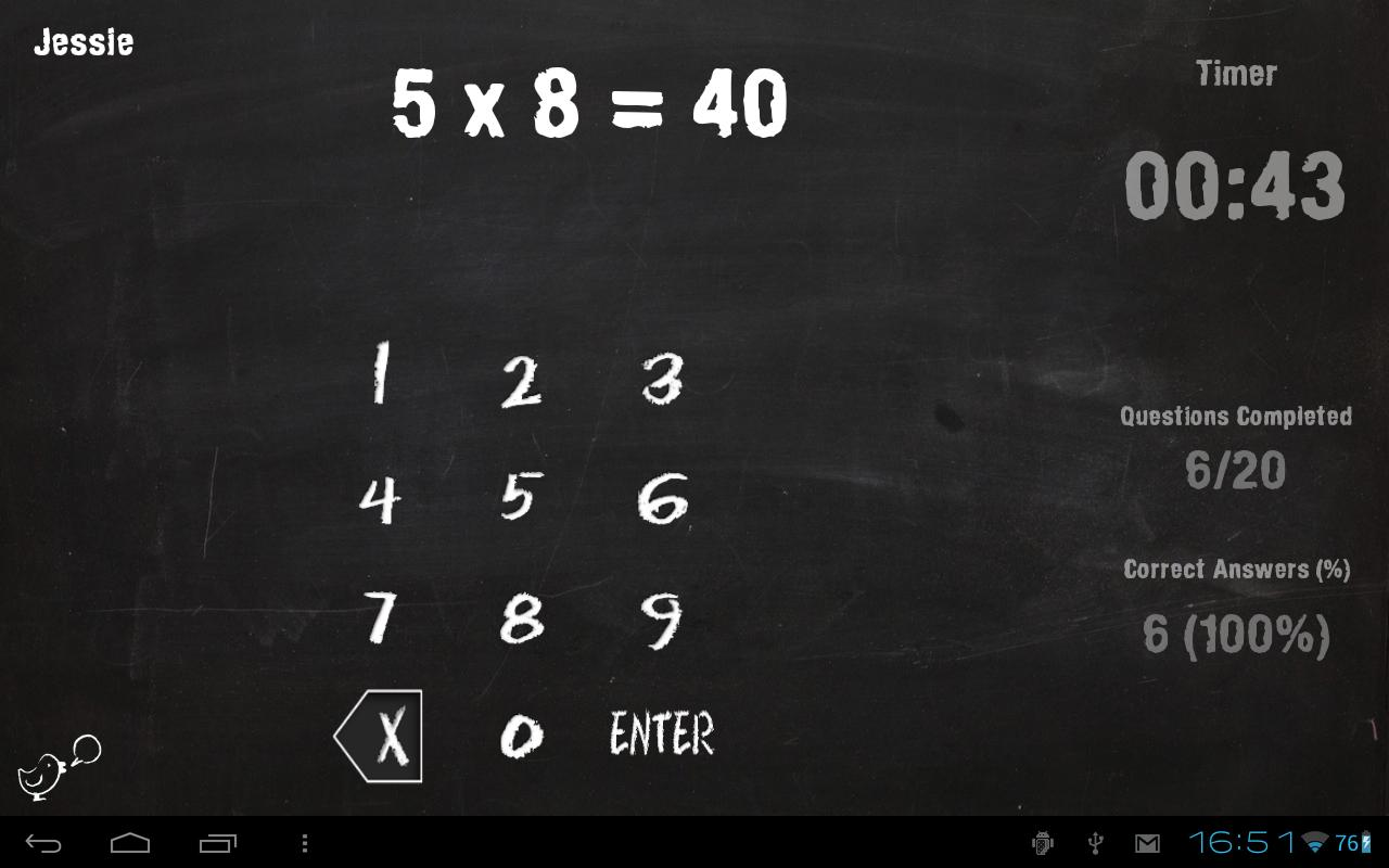 Math Tablet for Kids - screenshot