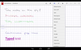Screenshot of LectureNotes