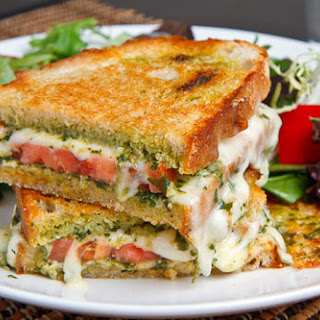 Caprese Grilled Cheese Sandwich.