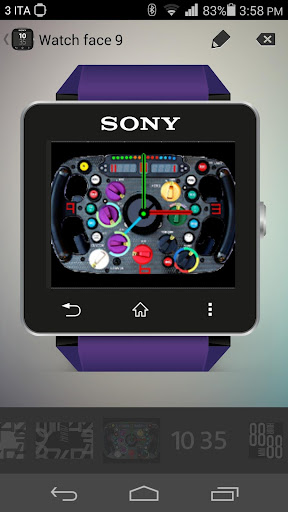 F1 Clock Widget SmartWatch 2