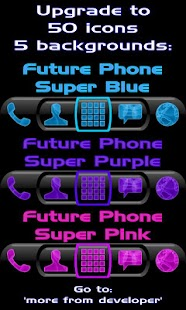 Future Phone Blue Theme Free - screenshot thumbnail