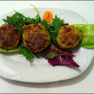 Potatoes And Vegetable Baked Patties.