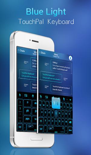 Blue Light Keyboard Theme