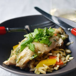 Ginger and Cilantro Baked Tilapia.