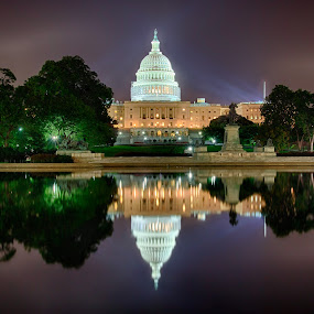 Midnight at the Capitol by Robert Gallucci - Buildings & Architecture Public & Historical