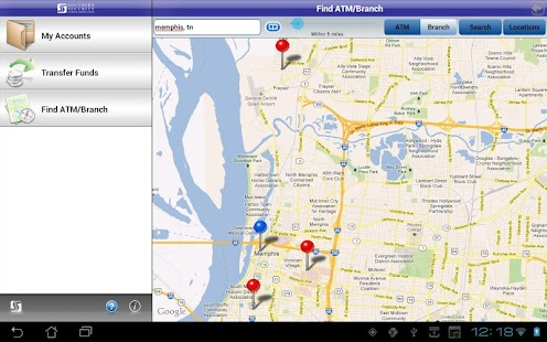SSFCU Tablet Mobile Banking - screenshot thumbnail