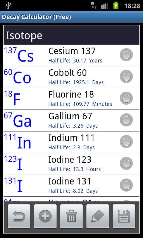 Radioactive Decay Calc (Free)- screenshot