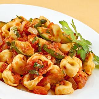 Tortellini and Zucchini Alla Arrabiata