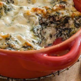Baked Spinach and Chicken Dip.