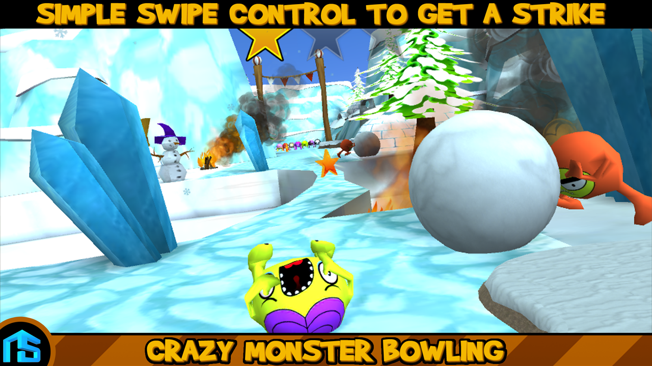 Crazy Monster Bowling - PRO - screenshot