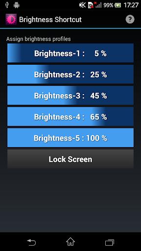 Brightness Shortcut
