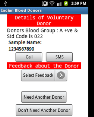 Indian Blood Donors- screenshot