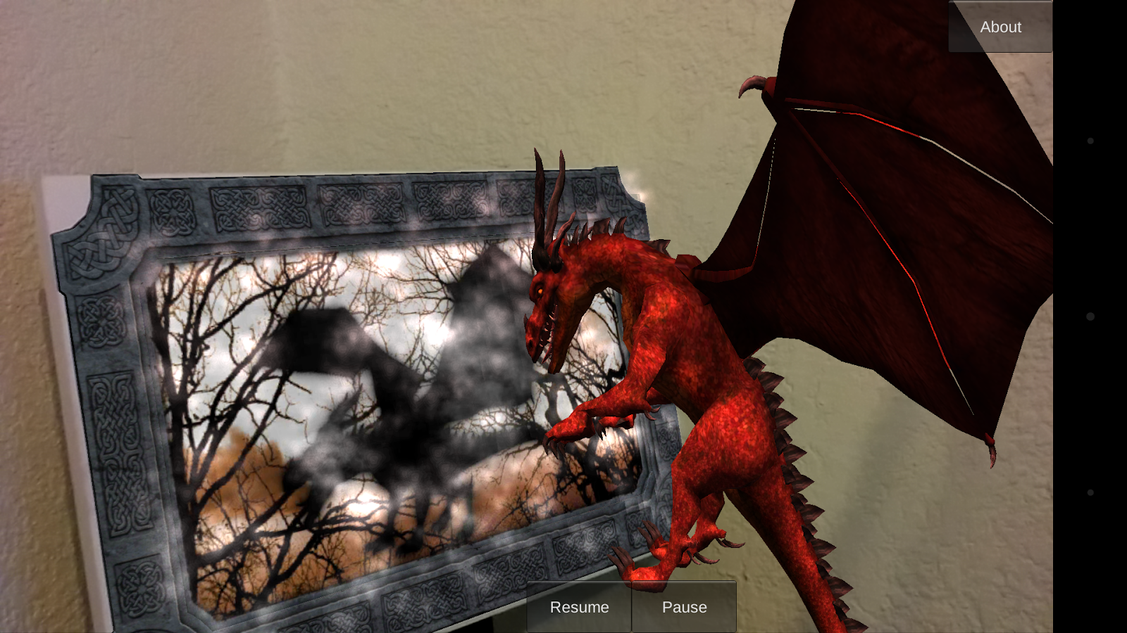 Augmented Reality Dragon Art - screenshot