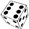 Fortune telling dice icon