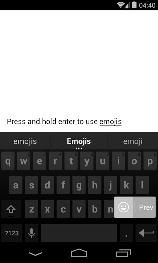 Google Keyboard - screenshot