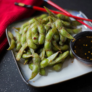 Sweet and Spicy Soy Glazed Edamame.
