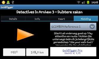 Screenshot of GoldDigger (Geocaching)