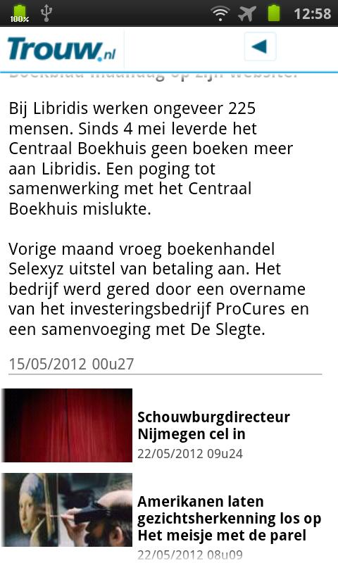 Trouw.nl Mobile- screenshot