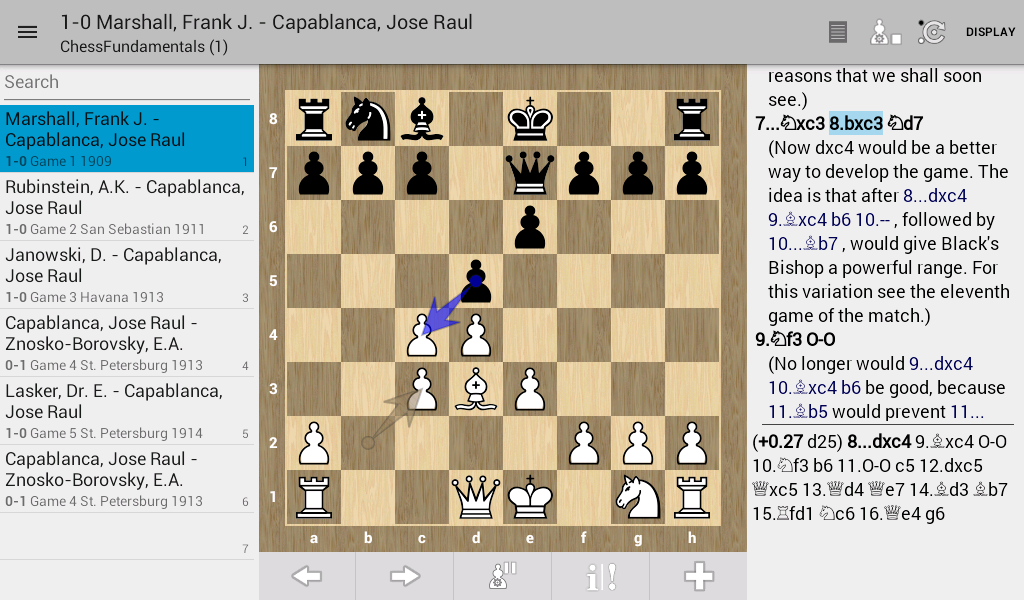Chess PGN Master: captura de tela