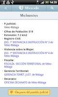 Screenshot of Directorio Ministerio Justicia