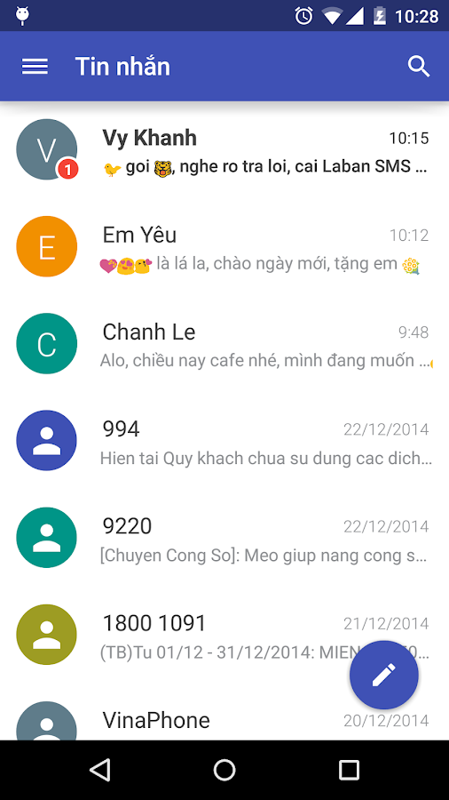 Laban SMS: spam blocker- screenshot