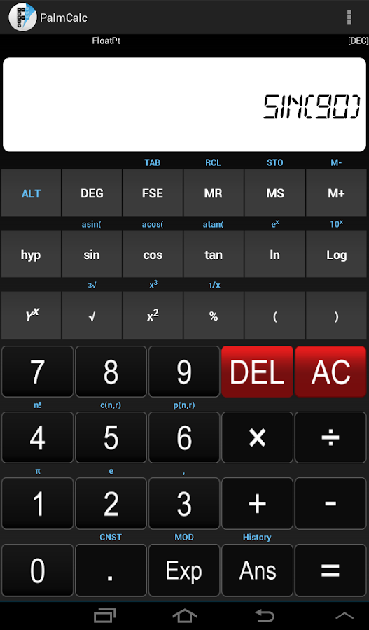 PalmCalc- Multiple Calculator- screenshot