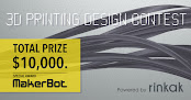"Total prize $10,000! Announcement of ""3D Printing Design Contest"" on Rinkak"