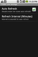 Screenshot of Cricket Live!