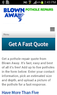 Blown Away, Pothole Repairs- screenshot thumbnail
