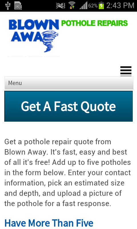 Blown Away, Pothole Repairs- screenshot
