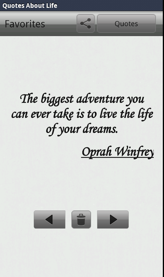 """Life Quotes"" - screenshot"
