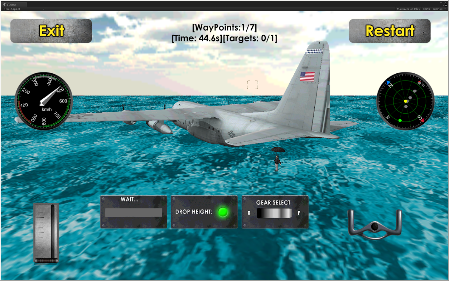 Flight Sim: Transport Plane 3D- screenshot
