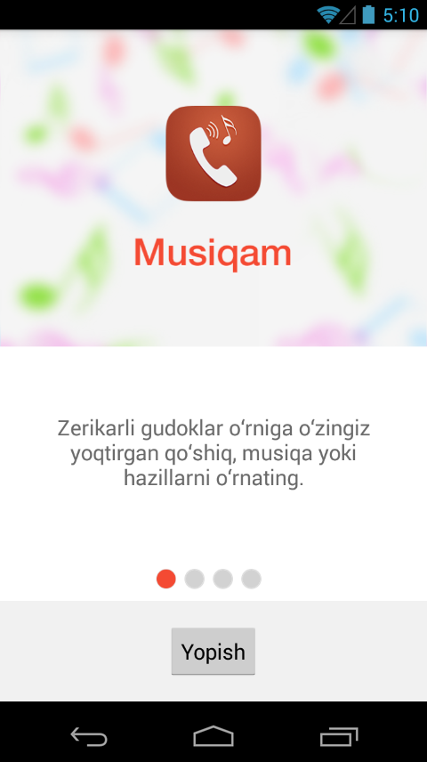 Musiqam- screenshot
