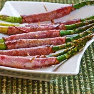 Roasted Asparagus Wrapped in Ham.