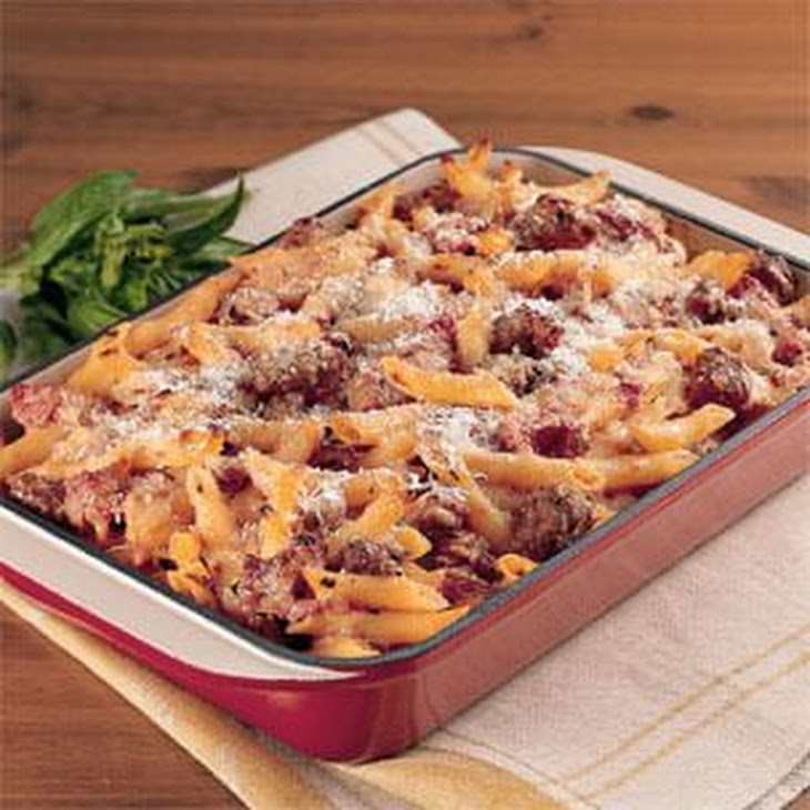 Pasta Rustica with Chicken Sausage and Three Cheeses Recipe