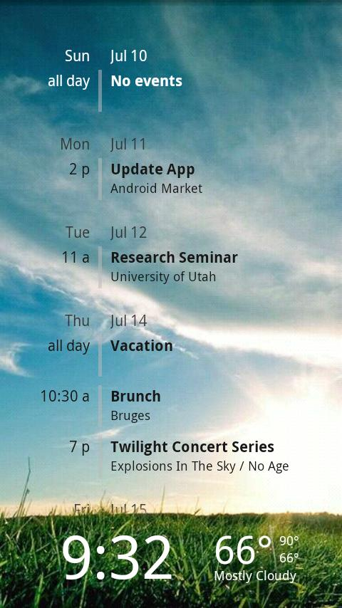 Lockscreen Agenda Pro - screenshot