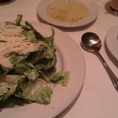 Caesar salad and GF flatbread