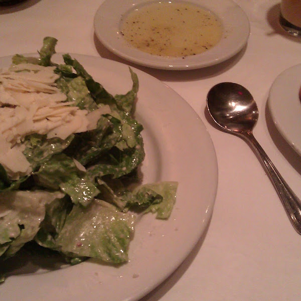 Caesar salad and GF flatbread
