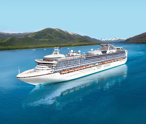 Diamond-Princess-in-Alaska - Diamond Princess has 700 balconies — perfect for you to take in the sweeping panoramas during a cruise to Alaska.