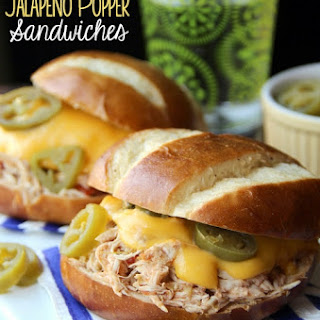 Slow-Cooker Jalapeno Popper Chicken Sandwiches