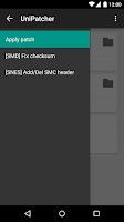 Screenshot of UniPatcher