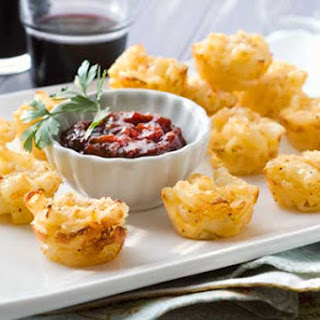 Gluten Free Mac and Cheese Bites with Quick Tomato Jam