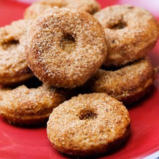 Baked Mini Gluten Free Vegan Vanilla Donuts.