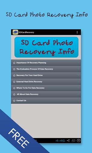 SD卡照片恢復信息