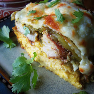 Salsa Verde Carnitas Tamale Pie