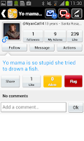 Screenshot of Yo mama : Community